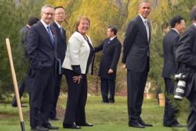Bachelet y Obama